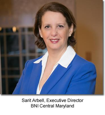 Sarit Arbell, Executive Director BNI Central Maryland